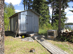 Fishtrap Lake fly-in outpost shed.JPG
