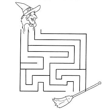 Ajude a bruxa chegar até a vassoura