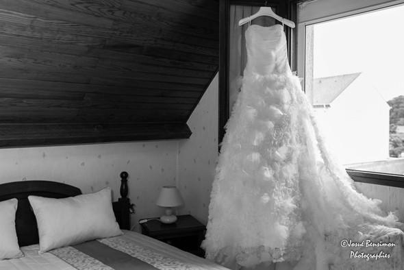 Préparation, robe de la mariée