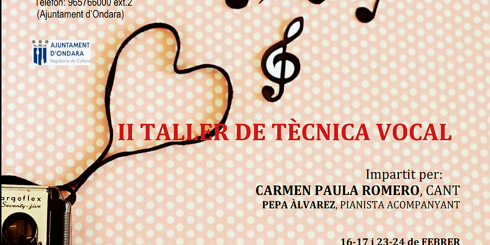 II TALLER TÈCNICA VOCAL