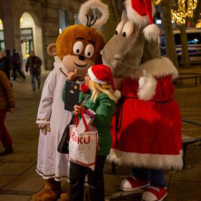 Äffle & Pferdle uff m Stuttgarter Weihnachtsmarkt