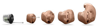 custom shaped hearing aids CIC IIC ITE