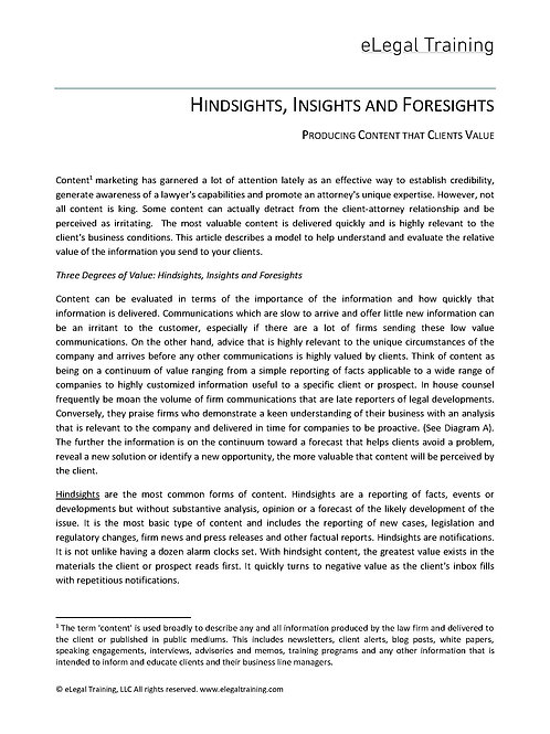Creating Viral Content. Hindsights, Insights and Foresights