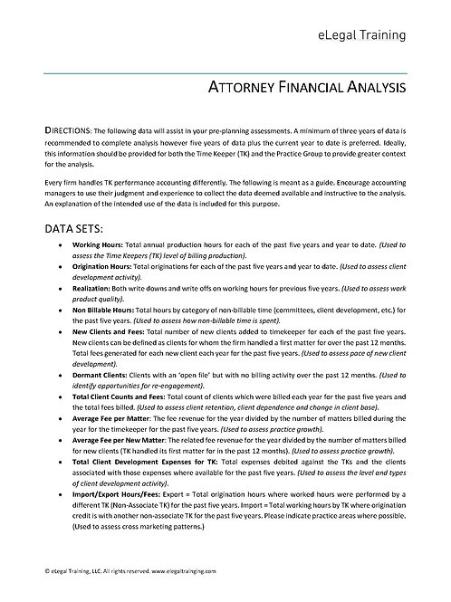 Attorney Financial Analysis