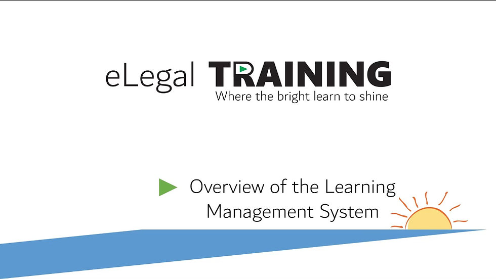 Demonstration of eLegal Training's LMS Platform.