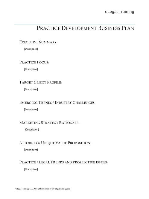 Practice Development Plan Template