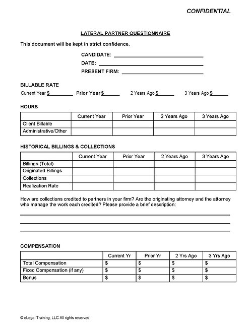 Lateral Partner Questionnaire