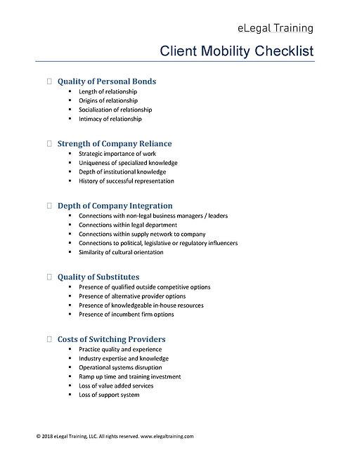 Client Mobility Checklist