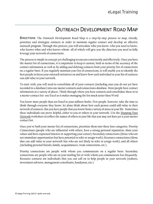 Outreach Program Road Map