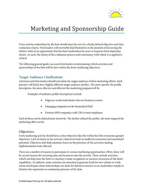 Sponsorship Evaluation Guide
