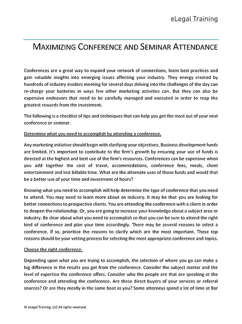 How to Make the Most of a Conference