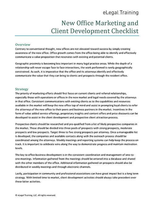 New Office Marketing Checklist