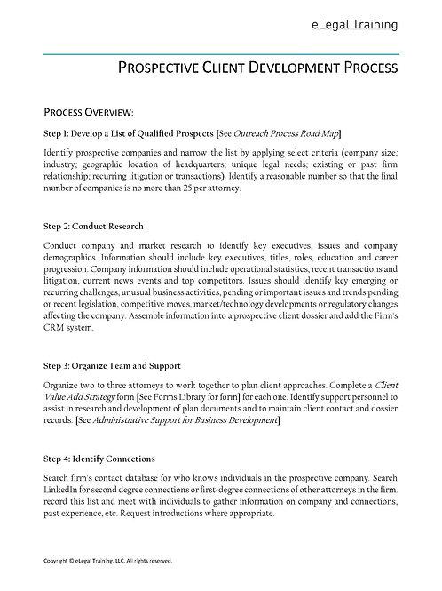 Client Development Process Outline