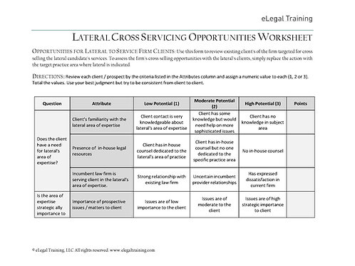 Lateral Cross Servicing Opportunities Assessment