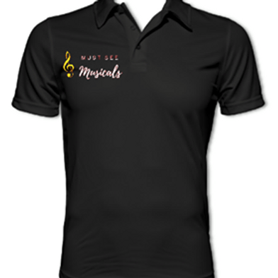 Black Must See Musicals Polo shirt