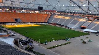 Estadio Único, Conocé como colocaron el Césped.