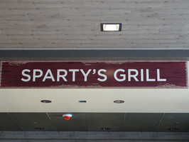 Sparty's Market @ 1855 Place Signage