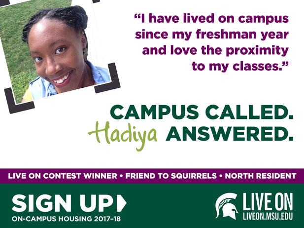 MSU Live On Contest-Winner Graphic