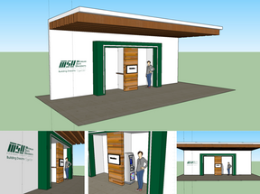 SketchUp proposal for the MSUFCU ATM Location @ 1855 Place