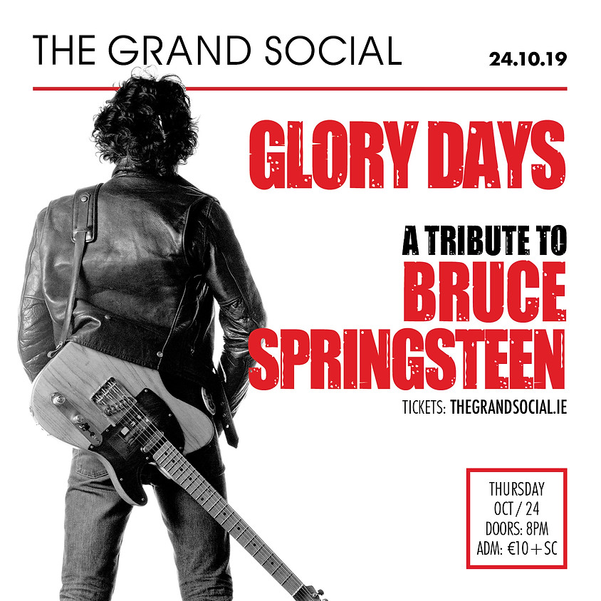 Glory Day's a Bruce Springsteen Tribute RESCHEDULED