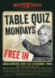 Napper Tandys Table Quiz Mondays Posters