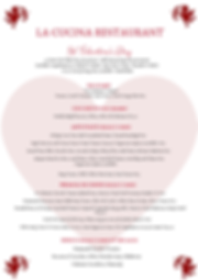 La Cucina St Valentine's Day Menu 2019-1