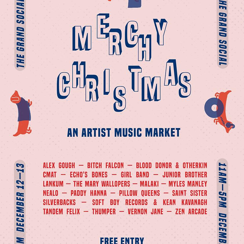 One  Stop Band Shop Presents…. Merchy Christmas, an artist music market.