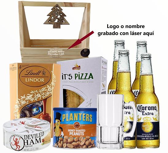 Canasta navideña 6 (Caja cervecera)