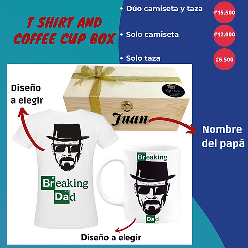 T shirt and coffee cup box