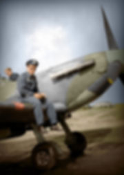 Helge Mathisen RAF Eshott OTU57 Spitfire MKIIb