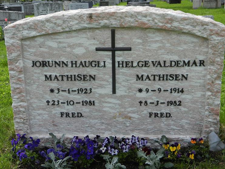 Jorunn Helge Mathisen gravstøtte
