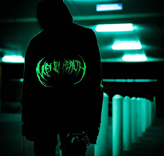"""METAL HEALTH"" EMBROIDERED HOODIE"