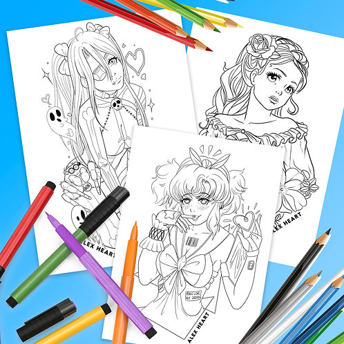Original Character Downloadable Colouring Pages