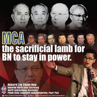 MCA the sacrificial lamb for BN to stay in power.