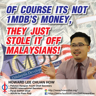 Of course its not 1MDB's money, they just stole it off Malaysians!