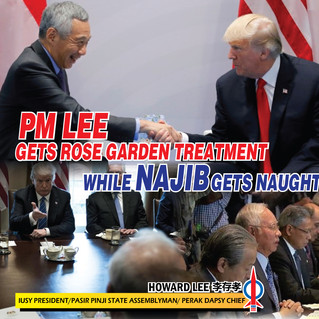 PM Lee Gets Rose Garden Treatment While Najib Gets Naught