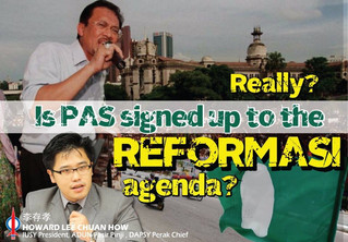 Really? Is PAS Signed Up to The REFORMASI Agenda?