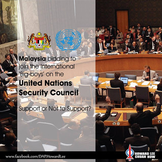 Malaysia joining United Nations Security Council (UNSC), Support or Not?