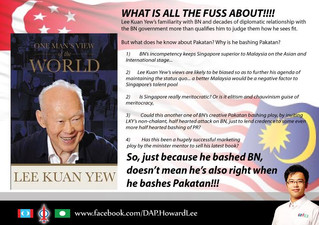 Clever old fox, that Lee Kuan Yew.
