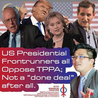 Top 4 US presidential candidates oppose TPPA. It may not be a 'done deal' after all