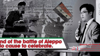 End of The Battle of Aleppo No Cause To Celebrate