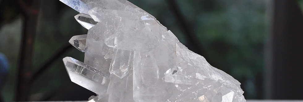 Water Clear Cross Quartz Cluster