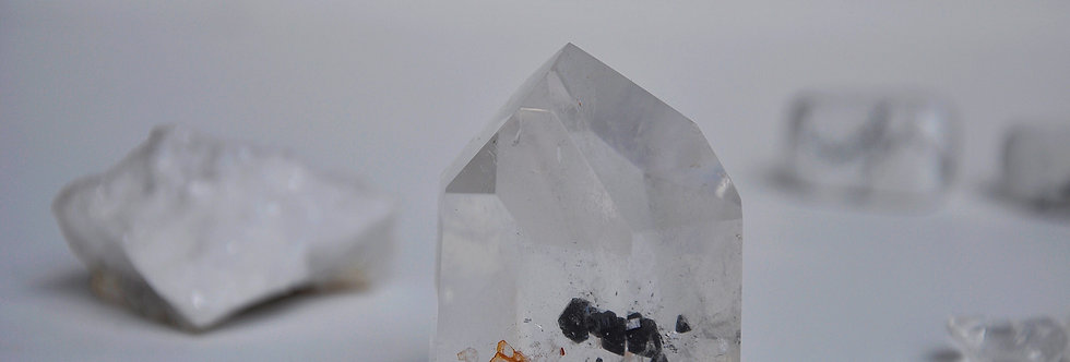 Clear Quartz + Cassiterite
