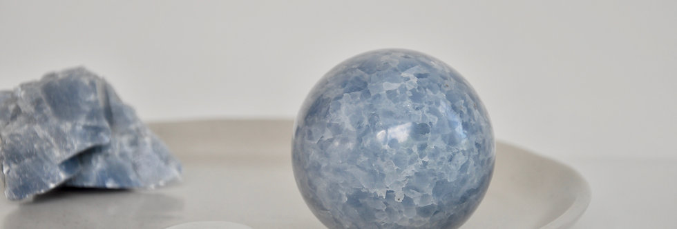 Mexican Blue Calcite Sphere