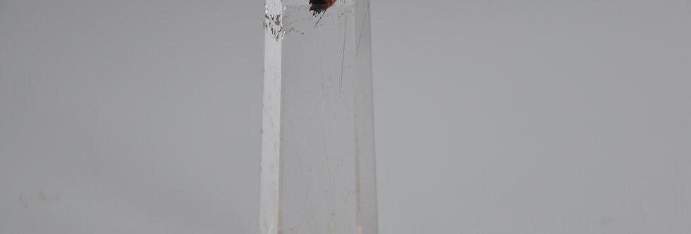 Optical quartz vv. Gold Rutile + Hematite