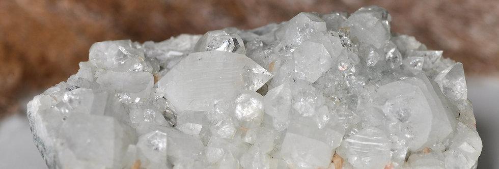 Pointed Apophyllite + Stilbite + Blue Chalcedony