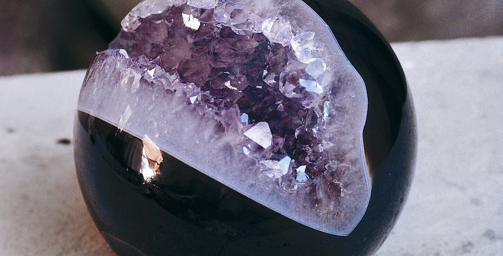 Agate + Amethyst Geode