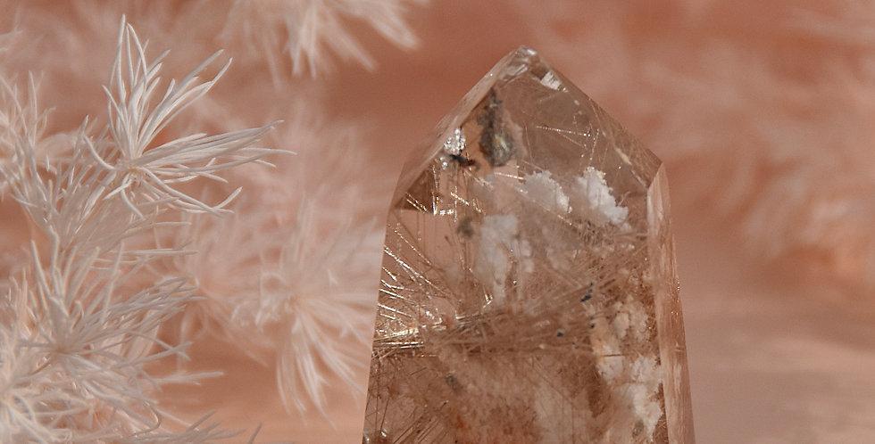 Lodolite + White Gold Rutile