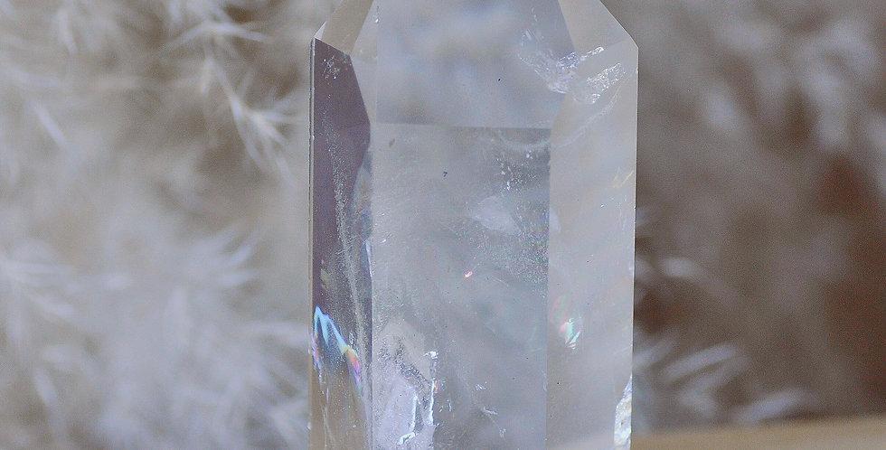 Rainbow Temple Heart w. White Chlorite Phantoms