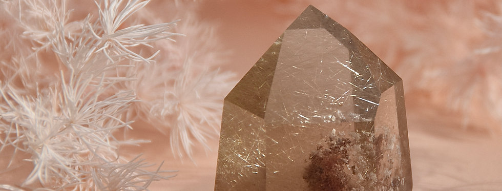 Pink Lodolite Citrine + Gold Rutile